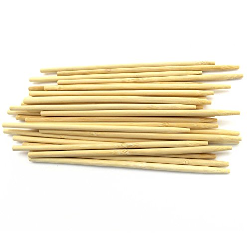 BambooMN 10 Inch 5mm Thick Semi Point Food Caramel Candy Apple Corn Dog Garden Bamboo Stewers, 100 Pieces by BambooMN