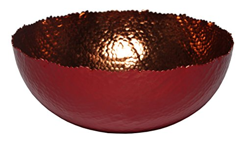 Melange Home Decor Cuivre Collection, 9-inch Bowl, Color - Paprika -