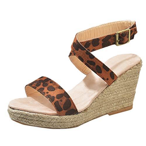 Cenglings Women Summer Fish Mouth Wedge Buckle Cross Strap High Heel Platform Sandals Open Toe Pumps ()