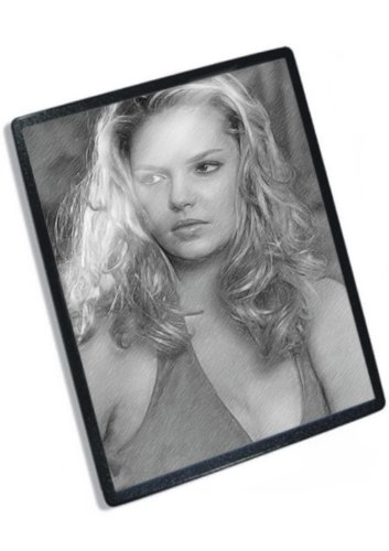 KATHERINE HEIGL - Original Art Mouse Mat (Signed by the Artist) #js001 Katherine Heigl Signed