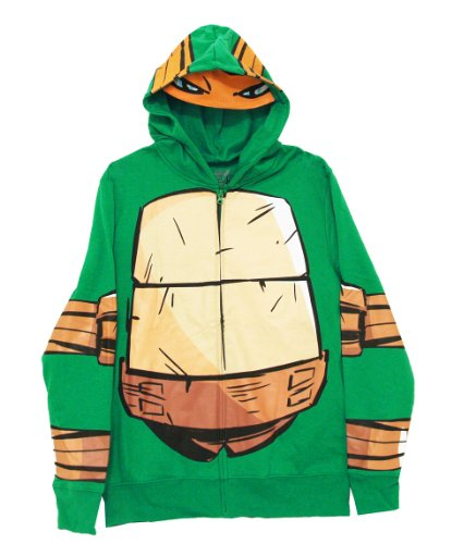 April O Neal Costumes (Teenage Mutant Ninja Turtles Men's Costume Hoodie, Kelly Green, Medium)
