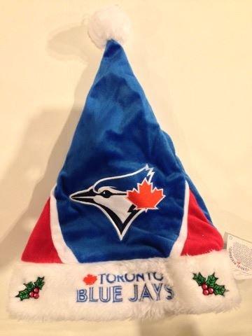 MLB Toronto Blue Jays 2014 Colorblock Santa Hat, One Size, Blue Mlb Santa