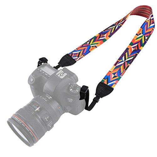 GBSELL For DSLR, Universal Soft Multi-Color Camcorder Camera Shoulder Strap Neck Belt (C)