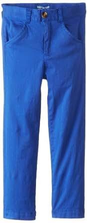 Andy & Evan Little Boys' Twill Pants, Blue, 6Y