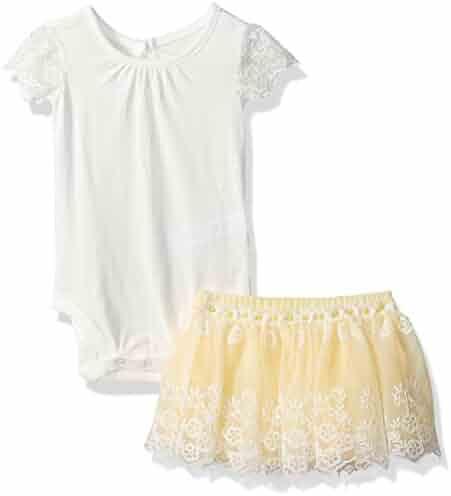 The Children's Place Baby-Girls' Sweet Li'l Daisy Print Skirt Set