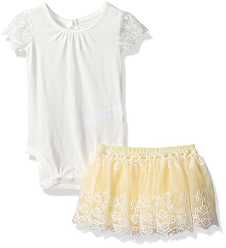 The Children's Place Baby Girls' Top and Skirt Set, White, 12-18 Months by The Children's Place