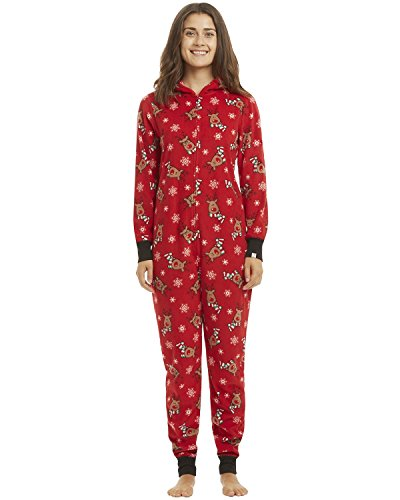 GIKING Novelty Christmas Matching Family Pajamas Set Snowflake Jumpsuit Hoodies Mama -