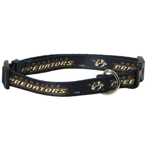 Nashville Predators Adjustable Pet Collar, Team Color, Medium ()
