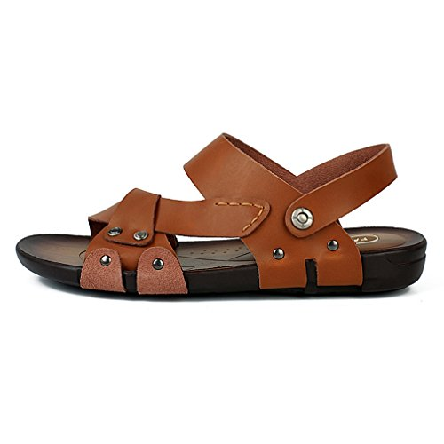 Summer Men's MAC Brown Sandals Toe Sandal Duty Athletic Shoes Outdoor Heavy Fisherman Open U Leather Beach zBwT5Wfqqg