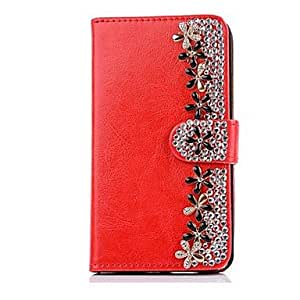 WEV Chrysanthemum PU Leather Protective Full Body Case with Card Slot and Stand for iPhone 5/5S(Assorted Colors)
