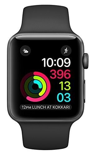 Apple Series 2 Watch for iPhone - 42mm Space Gray Aluminum Case with Black Sport - Hours Empire Mall