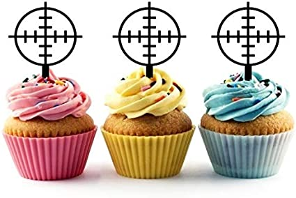 Amazing Amazon Com Ta0743 Gun Shooting Target Circle Silhouette Party Funny Birthday Cards Online Aboleapandamsfinfo