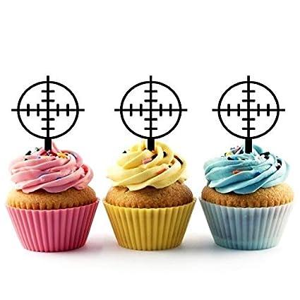 Amazon TA0743 Gun Shooting Target Circle Silhouette Party