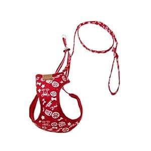 Jardin Cat Dog Vest Harness and Leash Design Set, Mesh, Size 4