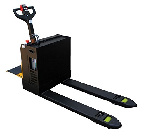 Vestil EPT-2748-45-RP Fully Powered Electric Pallet Truck with Riding Platform, 4500 lb. Capacity, 48'' Length x 27'' Width Fork