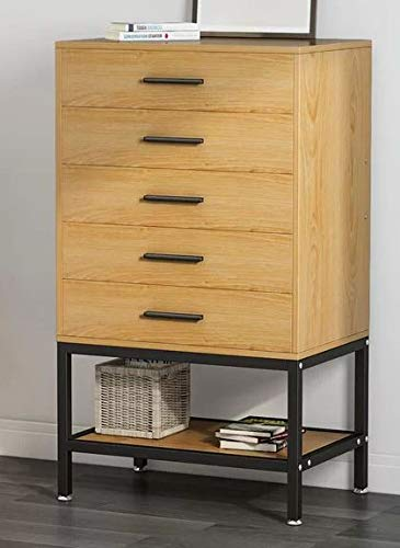Amazon Com Chester Drawers Vintage Oak Wood Black Metal Frame