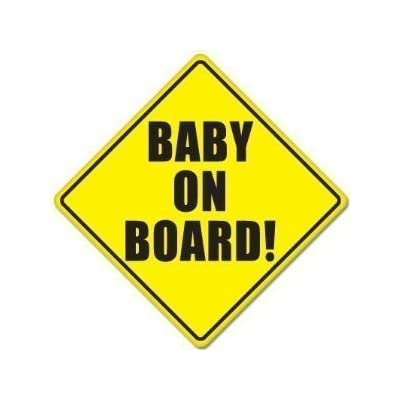 "Baby on Board Baby Safety Sign Car Sticker 5"" X 5"": Baby"
