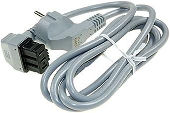 Cable de alimentación eléctrica para lavavajillas Bosch, Siemens, Neff, Gaggenau Conector macho Schuko. 1,7 m largo.