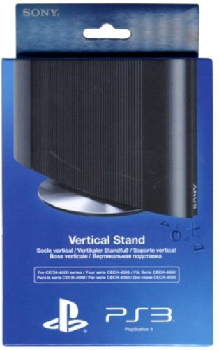 Ps3 Stand - Official Sony Playstation 3 Vertical Stand for Super Slim PS3 Consoles (For Cech-4000 Series)