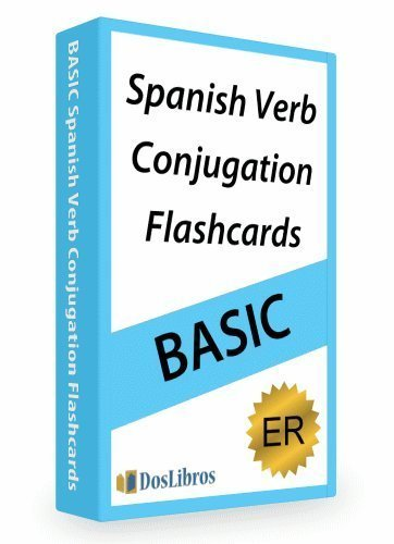Spanish Verb Conjugation Flashcards Er Verbs Dos Libros