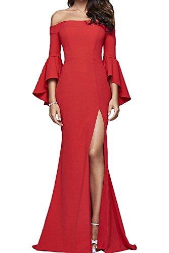 Partykleider Festlichkleider Rot Lang Abendkleider Etuikleider mia La Langarm Rot Braut Damen Brautmutterkleider Figurbetont qUZvZnSF