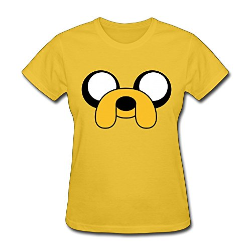Next Style Women's Adventure Time With Finn And Jake Custom Cool Yellow (Halloween Finn And Jake)