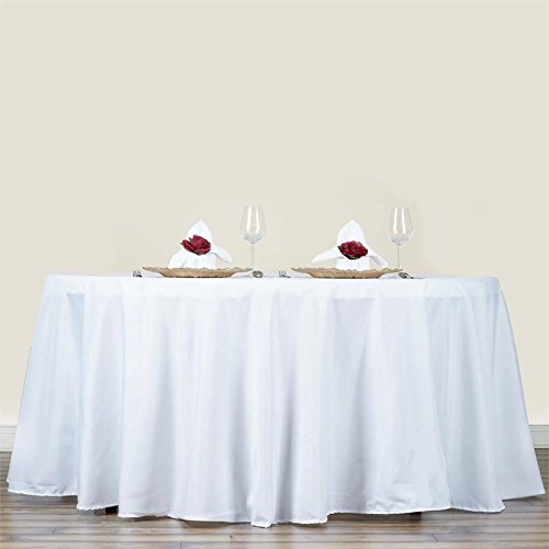 """70"""" WHITE Wholesale Polyester Round Tablecloth For Wedding Banquet Restaurant"""