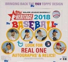 Amazon com: 2018 Topps Heritage Baseball Retail Box (24 Packs/Box,9