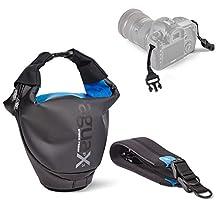 Miggo Agua IPX3 Quick-Draw Storm-Proof Holster 45 for Pro DSLR Camera - Black/Blue