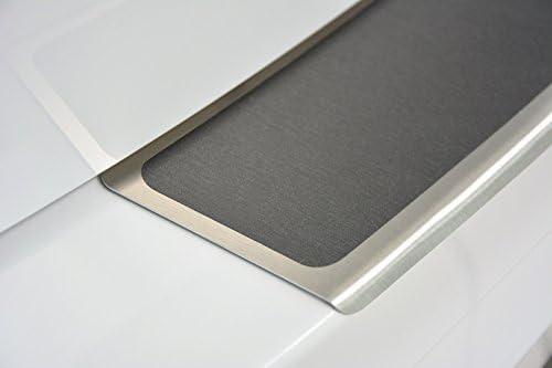 WGS Spar-Set Ladekantenschutz Einstiegsleisten Lackschutz mit ABKANTUNG Titan auf AluNox/® 2223-801