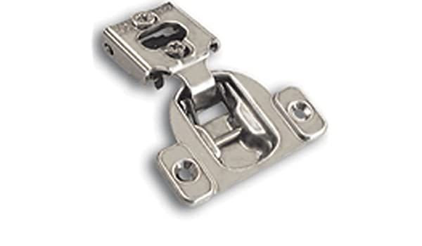 Nickel Finish Blum 38N355C.08MBx10S 105 Degrees Compact 38N Series 1//2 Inch Overlay Screw-On Cabinet Hinge Pack of 10