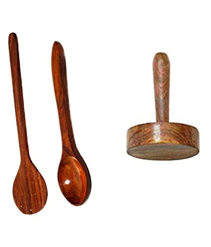 Buy desi karigar brown wooden skimmer 3 pieces online at low