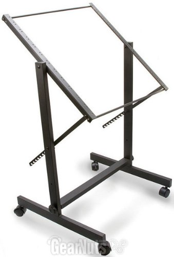 HOSA 11-space Rolling Studio Rack with Adjustable Tilt for 19'' Units