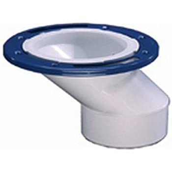 toilet flange. IPS 86181 3 Inch x 4 PVC Offset Closet Flange with Metal Ring Oatey 43501  or