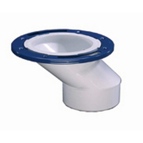 (IPS 86181 3-Inch x 4-Inch PVC Offset Closet Flange with Metal Ring )