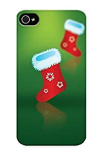 New Green Christmas Boots Tpu Skin Case Compatible With Iphone 4/4s/ Perfect Design