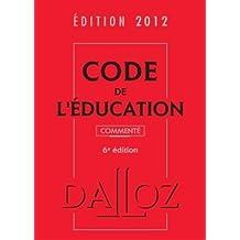 CODE ÉDUCATION 2012, COMMENTÉ