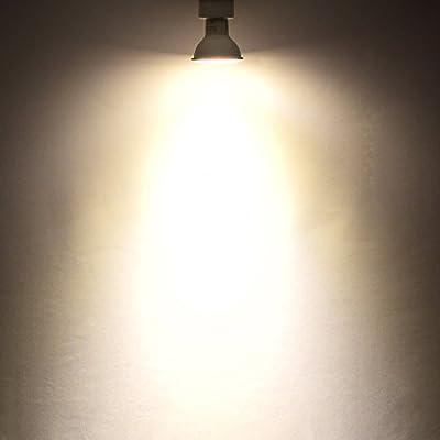 MR16 LED GU10 Bulb, Luxrite, 50W Equivalent, 2700K Warm White, 560 Lumens, 12V, LED Track Light Bulb, 40° Beam Spread, GU10 Base, ENERGY STAR, UL Listed