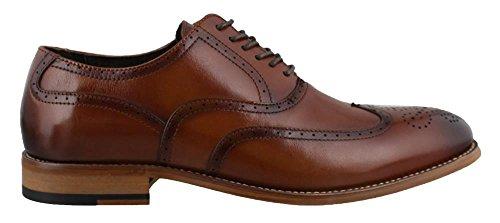 Stacy Adams Men's Dunbar-Wingtip Oxford, Cognac, 9 W (Brogue Shoes)