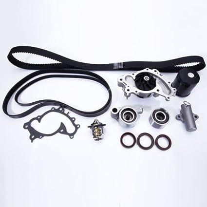 Juego de kit de correa de distribución y bomba de agua para 1994 - 2010 Toyota Camry Highlander Sienna   1994 - 2006 Lexus ES300 RX300 3.0L 3.3L V6: ...