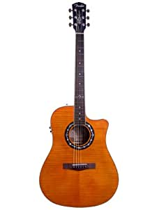 fender t bucket 300ce dreadnought cutaway flame maple acoustic electric guitar. Black Bedroom Furniture Sets. Home Design Ideas