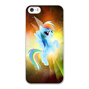 iPhone 5 5S SE Case, Pinkie Pie Y Rainbow Dash My Immortal Leer Cover For iPhone 5 5S SE Cell Phone Case White GHST6817995