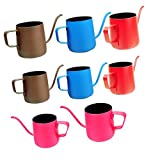 MonkeyJack 8pcs Stainless Steel Pour Over Drip Kettle Long Narrow Spout Rosy Teapot