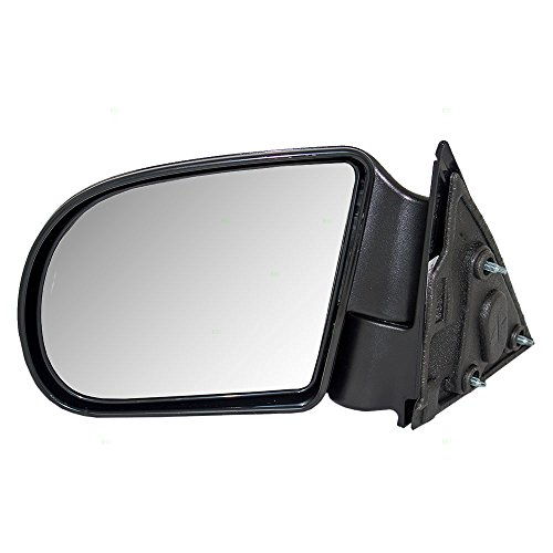 Drivers Manual Side View Mirror Textured Replacement for Chevrolet GMC Isuzu Pickup Truck SUV 15193316