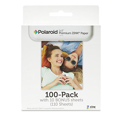 - Polaroid 2x3 inch Premium ZINK Photo Paper (100+10 Sheets) - Compatible With Polaroid Snap, Z2300, SocialMatic Instant Cameras & Zip Instant Printer