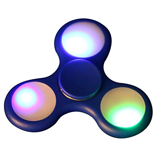 Price comparison product image Hot! LED Spinner,IEason 2017 Popular LED Light Fidget Hand Spinner Torqbar Finger Toy EDC Focus Gyro Fast Shipping (Blue)