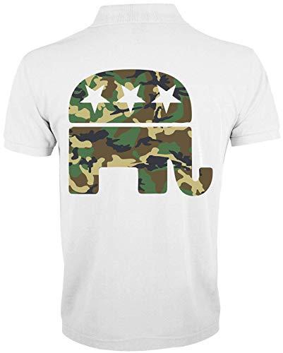 Générique Republican Elephant Camouflage Military Graphic T-Shirt Polo Homme 1