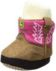 John Deere baby-girls Slippers Slipper Sock - pink