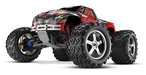 (Traxxas T-Maxx 3.3: 1/10 Scale Nitro-Powered 4WD Monster Truck with TQi 2.4GHz Radio and TSM, Red)