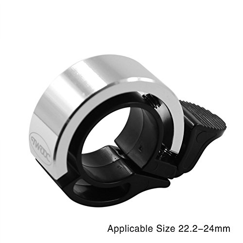 Tanchen Bicycle Bike Bell 22.2mm to 24mm Handlebar Clamp Ring Invisible Seemless Simple (Silver)